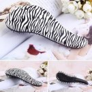 White zebra-Strip Magic Tangle Detangling Zebra Comb Shower Hair Brush Salon Comb db