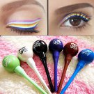 Lollipop Shape BU Cosmetic Waterproof Liquid Eyeliner Pencil Pen Makeup 1 Pcs Green Color   db