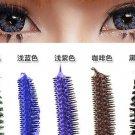 Coffee Mascara Waterproof Eye Make Up Eyelash Brush Head 3D FIBER One Pcs
