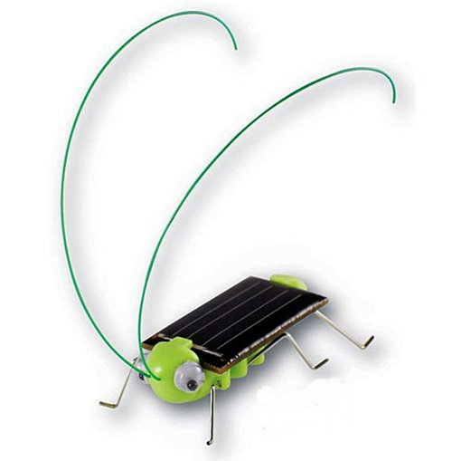Solar Toy Fun Solar Power Robot Insect Locust Grasshopper db