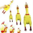 17CM Yellow Screaming Rubber Chicken Pet Dog Toy Squeak Squeaker  db