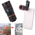 Clip On 8X Zoom Phone Telephoto Camera Lens for iPhone Samsung HTC Cellphone  DB