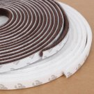 5m Self Adhesive Draught Excluder Brush Window Pile Seal Film Door Weather Strip Brown Color