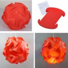 30pcs/Lamp Shade Elements Puzzle Jigsaw Light Lamp Shade Ceiling Lampshade Size S Red Color