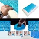 Premium Memory Foam White Bed Pillow Blue Cooling Comfort Gel Orthopedic Sleep db