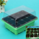 12 Cells Hole Plant Seeds Grow Box Green Tray Insert Propagation Seeding Case db