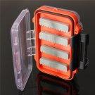 Double side Waterproof pocket Fly fishing box Slid foam insert Hold 170 flies db