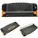 909-1 A4 Guillotine Ruler Paper Cutter Trimmer Black-Orange Plastic Cutters db