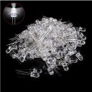 100pcs Ultra Bright Round White LED Emitting Diode Electronic Light Bulb 5mm db