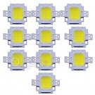 10Pcs DC 9-12V 10W Cool White High Power 800-900LM SMD LED Lamp Flood Light Chip db