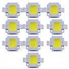 10Pcs DC 9-12V 10W Cool White High Power 800-900LM SMD LED Lamp Flood Light Chip db