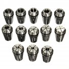 13PCS ER20 HSS Spring Collet Set for CNC Milling Engraving Machine Lathe Tool db