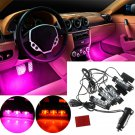 12V Car Charge 4 in 1 Atmosphere Light Lamp Glow Car Interior Decor db