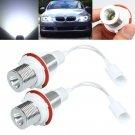 2x 3.5W White Cree LED Angel Eye Halo Ring Marker Light For BMW E39 E53 E60 E61 db