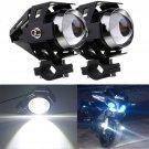 2X 125W CREE U5 LED MOTORCYCLE BIKE HEAD SPOT DRIVING RUNNING FOG LIGHT LAMP db