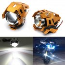 PAIR CREE U5 LED MOTORCYCLE BIKE HEAD LIGHT DRIVING SPOT FOG LAMP 3000 LMW db