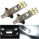 2x H1 HID 5050 8-SMD LED Xenon Pure White Fog/Driving Light Bulb Lamp DC 12V 2W db