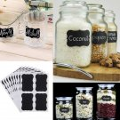 36pcs Removable Chalkboard Blackboard Cup Jar Jam Label Wall Sticker Decal Tags db