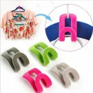 Clothes Organize Helper Mini Flocking Conector Hanger Holder Hook 10pcs db