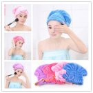 Bowknot Stylish Hair Dry Hat Cap Quick Drying Lady's Shower Bath Tool Soft Blue Color One Pcs