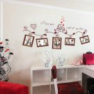 Wall Sticker Decal Mural Home Decor Love Birds Photo Frame Removable Vinyl Art