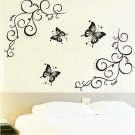 Butterfly with Vine DIY Removable Vinyl Wall Stickers Decal Art Mural Home Decor db