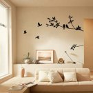 PVC Removable Tree Bird Art Vinyl Quote Decal Mural Room Decor Home Wall Sticker db