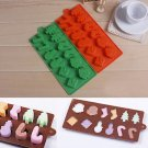 Xmas Tree Snowman Silicone Cake Candy Chocolate Decorating Mold Sugarcraft Mould One Pcs