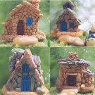 Micro Garden Home Stone House Miniature Craft Miniature Landscape Decor Fairy db