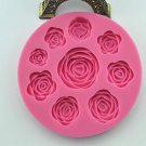 Rose Flower Silicone Mould for Polymer Clay Candy Cake Decorating Fondant db