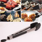 Stainless Steel Kitchen Cooking Food Vegetable BBQ Buffet Utensil Tongs Lock 12 Inch
