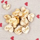 Mini Wooden Wood Love Heart Pieces Painting Craft Cardmaking Scrapbooking 100 Pcs