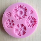 Flower Silicone Clay Soap Mold Fondant Sugarcraft Chocolate Cake Decorating Tool db