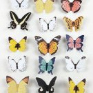 15pcs Colorful Butterfly Stickers Making Stickers Wall Sticker Craft Butterflie db