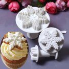3PCS Snowflake Plunger Cutter Mold Tool Cake Fondant Decorating Sugarcraft Mold db