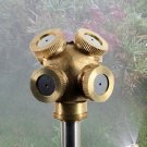 4 Hole Super Adjustable Brass Spray Misting Nozzle Garden Sprinklers Irrigation db