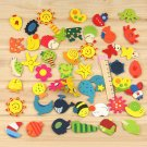 12 Pcs Cartoon Funny Wooden Kitchen Fridge Magnet Baby Kid Educational Toy db