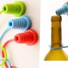 Kitchen Practical Silicone Vacuum Wine Bottle Cap Stopper Gadgets Plug Anti-lost 2 Pcs