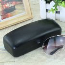 16*6*5cm Black Leather Square Eyeglasses Sunglasses Hard Case Box Holder Black