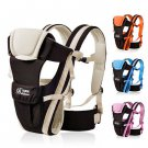 Baby Carrier Breathable Ergonomic Newborn Kids Pouch Front Back Infant Backpack  Khaki Color