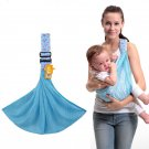 Newborn Infant Baby Sling Carrier Wrap Breathable Ergonomic Kid Pouch Bag Blue Color x 1