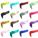 "12"" x 108"" Satin Table Runner Wedding Party Decorations 5 pcs Charcoal Color"