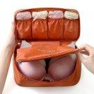 1 x Protect Bra Underwear Lingerie Case Travel Organizer Bag Waterproof Dark Orange Color