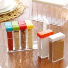 Salt Pepper Condiment Seasoning Box Storage Box Kitchen Tool 6 Storage In One Set