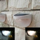 Outdoor Solar Powered 6 LED Light Fence Roof Gutter Garden Wall Lamp White x1