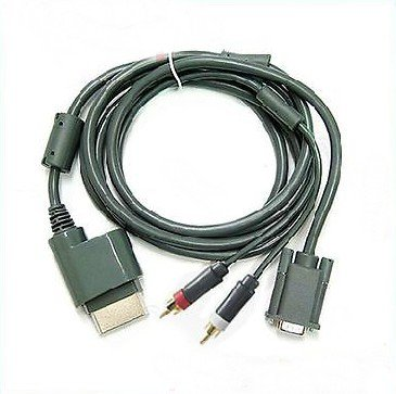 High Definition VGA Cable For Xbox 360 to Monitor HDTV TV With Audio Port db