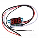 DC 0 To 999mA Red LED Panel Meter Mini Digital Ammeter 3-30V Amp Wire Lead Cord db