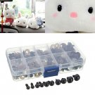 Teddy Bear Doll Animal Puppet Toy Plastic Eyes 100Pcs/Set 6-12mm Black Plastic Safety Eye DB