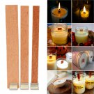 10Pcs Candle Wood Wick with Sustainer Tab Candle Making Supply L-19MM