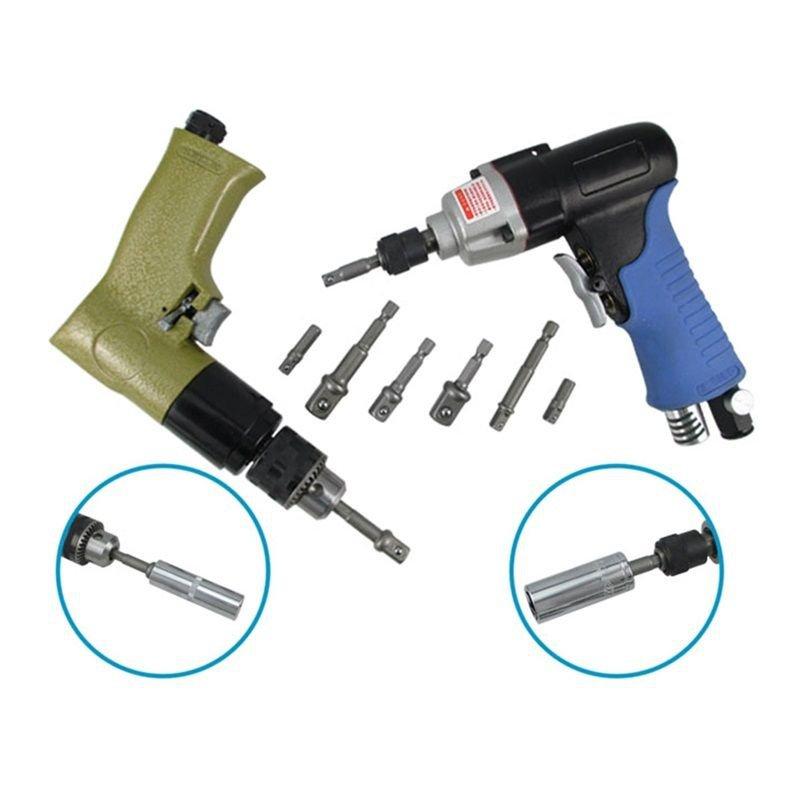 3pcs Socket Adapter Hex Shank to 1/4'' 3/8'' 1/2'' Impact Drill Bits Driver db